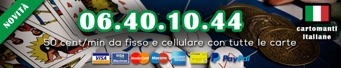 Cartomanzia Vera carta di credito 50 centesimi